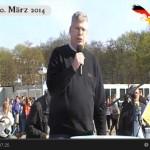 Manfred Rouhs spricht (Video). Er wünscht sich ein souveränes, starkes Deutschland als Mittler zwischen Ost und West.