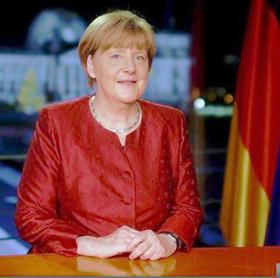 Angela Merkel bei der Neujahrsansprache 2016.