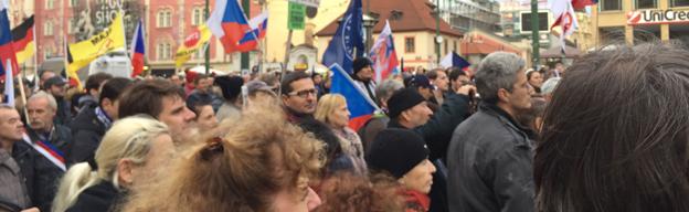 17. November 2016: Tag des Kampfes früe Freiheit und Demokratie in Tschechien.