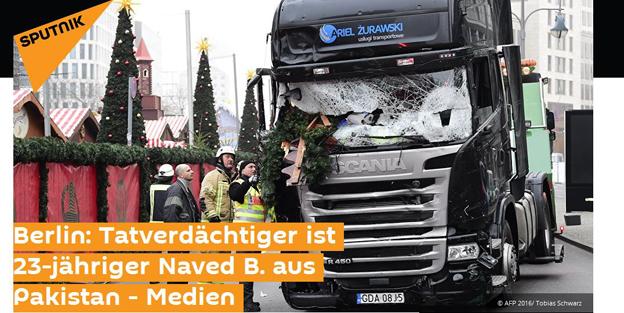 Online-Schlagzeile zum Mordanschlag in Berlin.